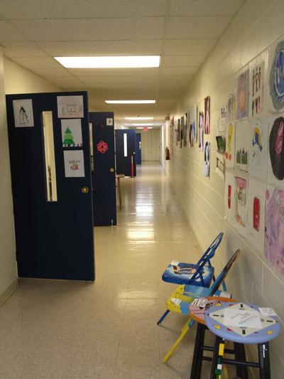 The High School hallway upstairs