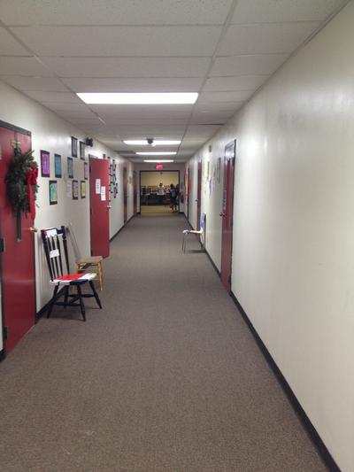 The Elementary School hallway